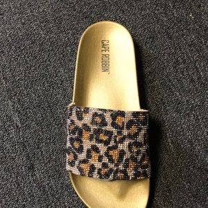 Cheetah print with rhinestone sandals